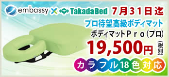 高田ベッド製作所の国産治療用マクラ ボディマットPro(プロ)が特価